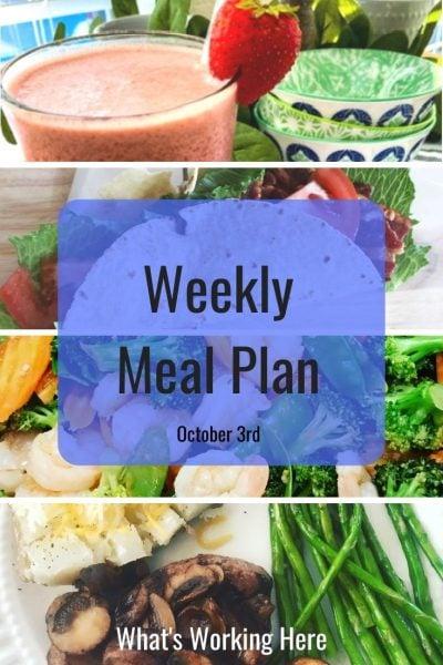 weekly meal plan strawberry shakeology BLT wrap shrimp & veggie stir fry steak & mushrooms, baked potato, asparagus