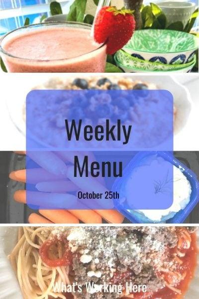 Weekly menu 10_25_20
