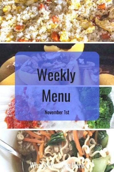 Weekly menu 11_1_20 - warm & cozy portion fix