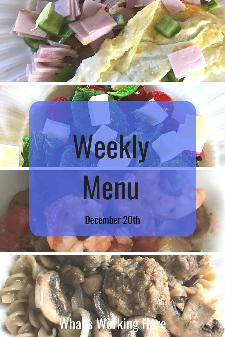 Weekly menu 12_20_20 - holiday meal planning