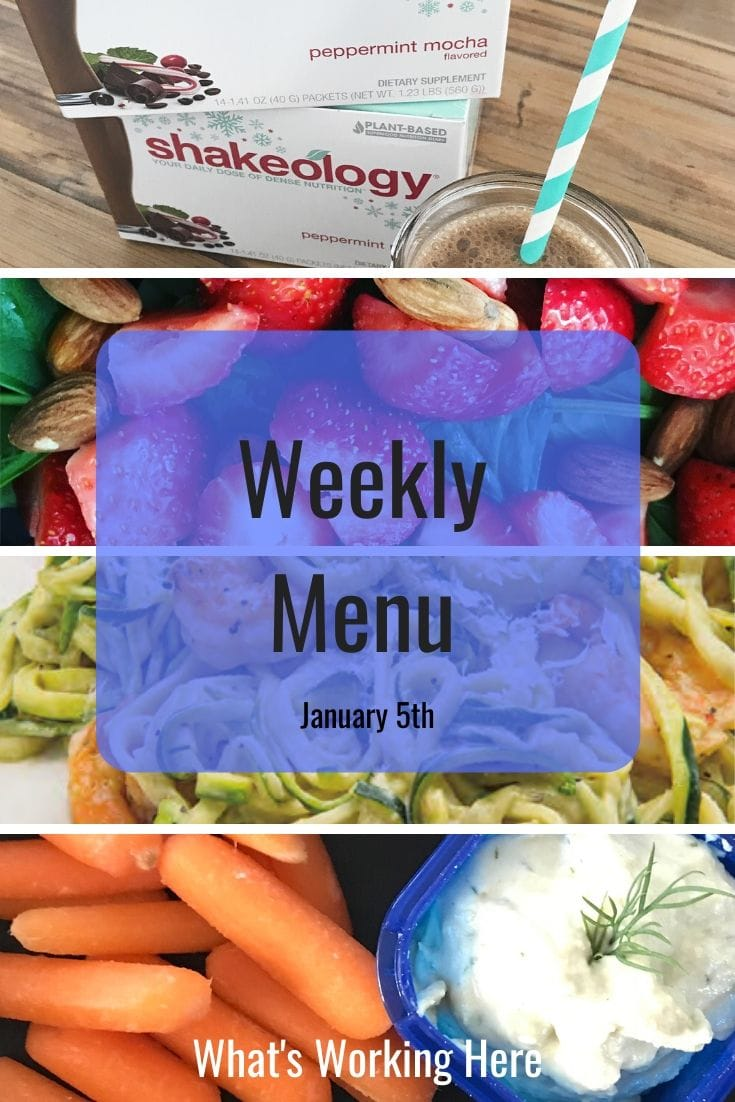 Weekly menu 1_12_20 - 3 day refresh and 2b mindset