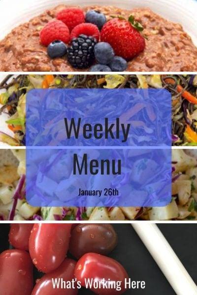 Weekly menu 1_26_20 - 2B Mindset