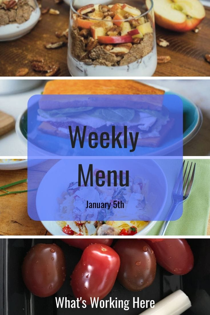 Weekly menu 1_5_20 - barre blend 2B mindset 7 day meal plan