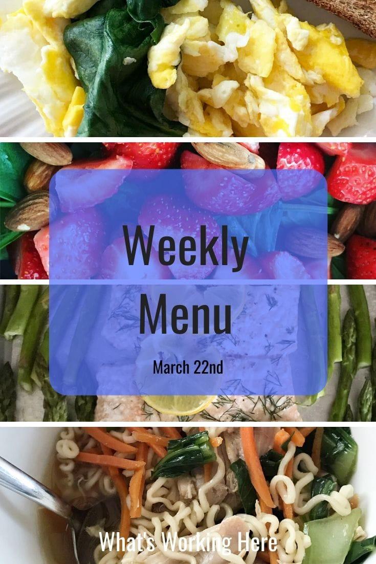 Weekly menu 3_22_20