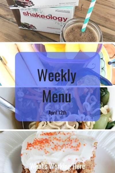 Weekly menu 4_12_20 - easter menu