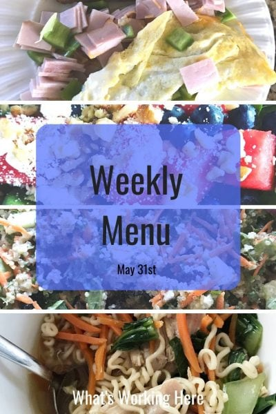 Weekly menu 5_31_20 - Portion Fix Favorites