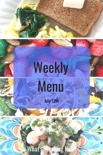 Weekly menu 7_12_20- easy healthy recipes