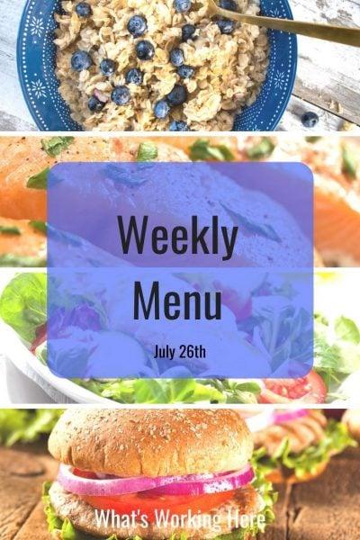 Clean week meal plan