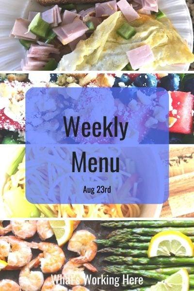 Weekly menu 8_23_20 - healthy meal planning bundle & portion fix