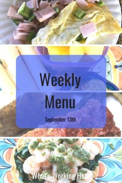 Weekly menu 9_13_20