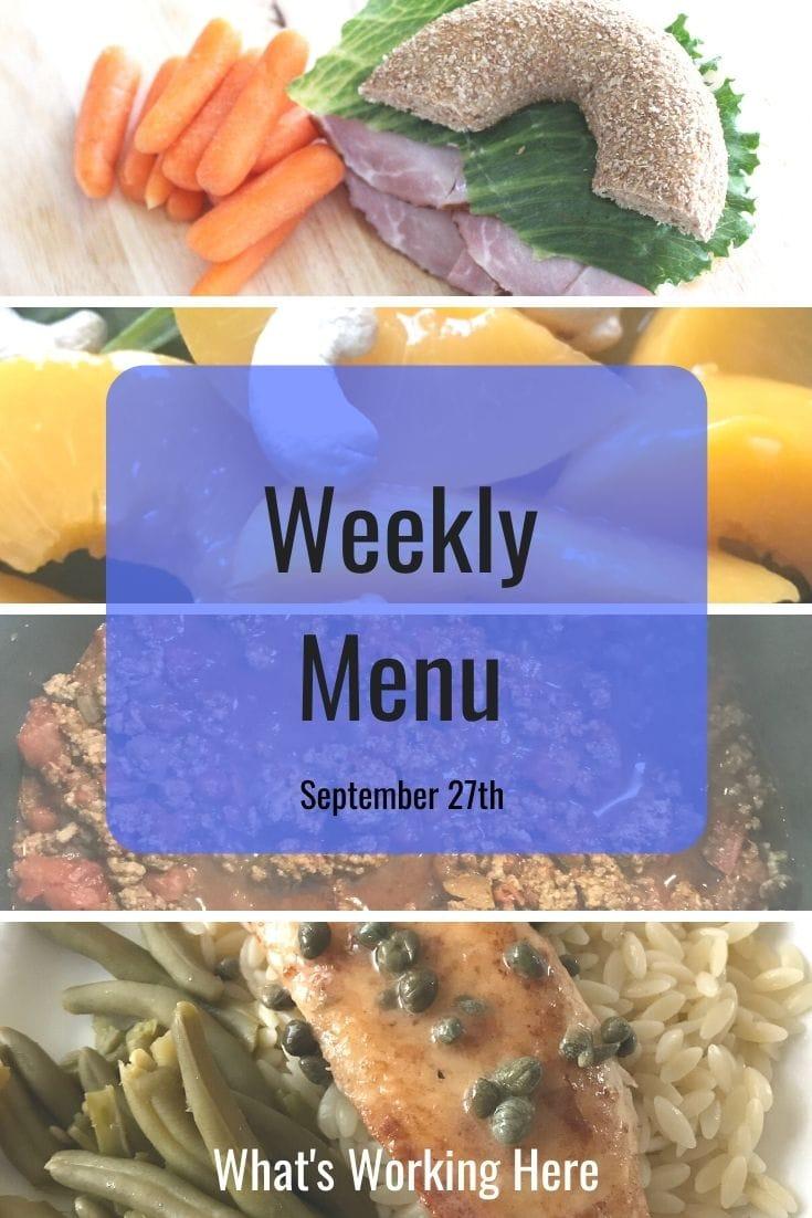 Weekly menu 9_27_20