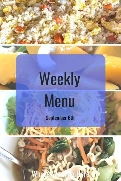 Weekly menu 9_6_20