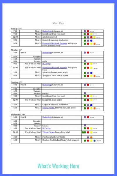 Weekly menu- Nov 15