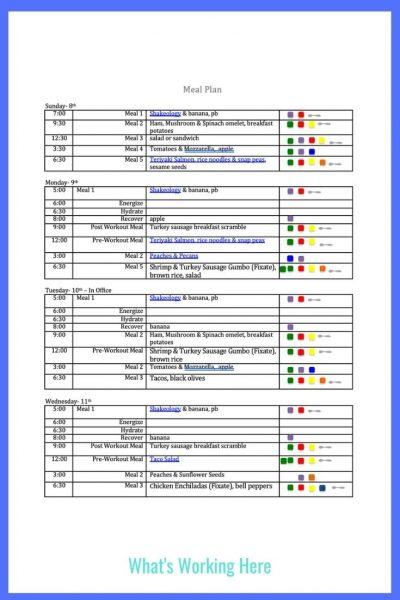 Weekly menu- Nov 8