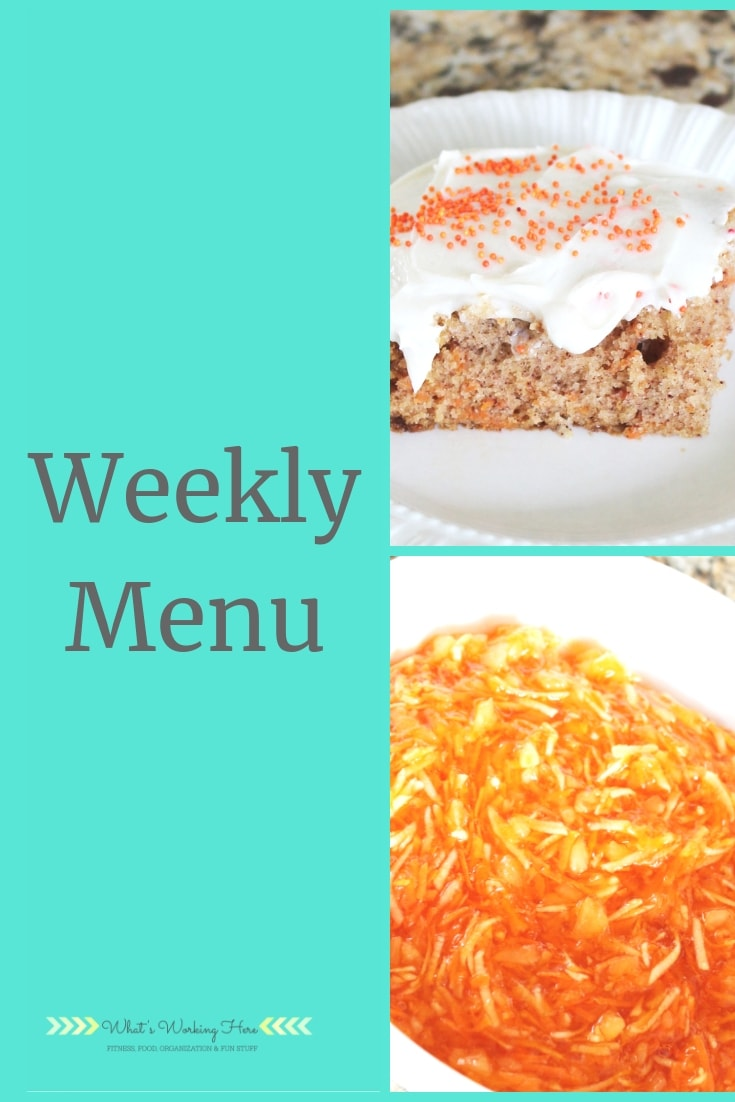 april 21 Weekly Menu - Easter Lunch