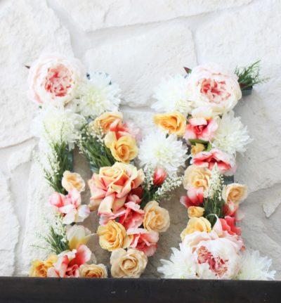 girl baby shower flower letter