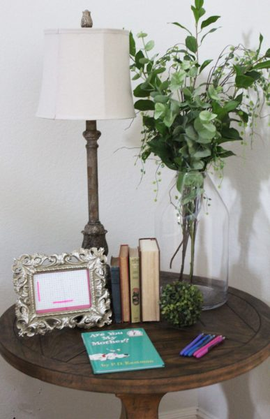 girl baby shower guest book